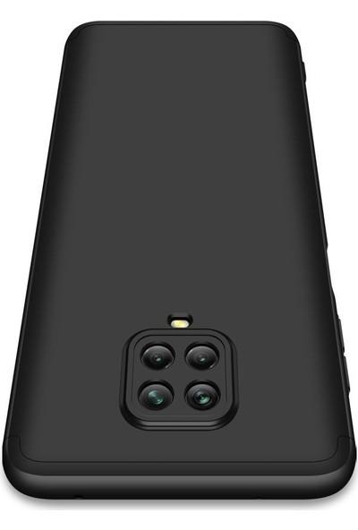 SmartBerry Xiaomi Redmi Note 9 Pro Kılıf Ays Sert Silikon 3 Parçalı + Nano Ekran Koruyucu Siyah