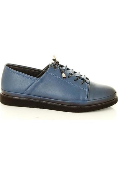 Marina Shoes K196 Mavi Kadın Günlük Ayakkabı