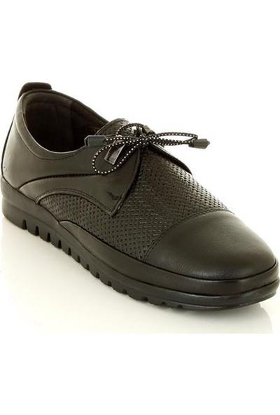 Marine Shoes 1055 Siyah Kadın Günlük Ayakkabı