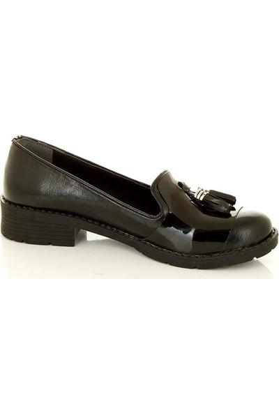 Marine Shoes 207 Siyah Kadın Babet