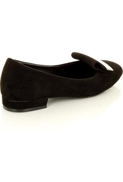 Marine Shoes 306 Siyah Kadın Babet