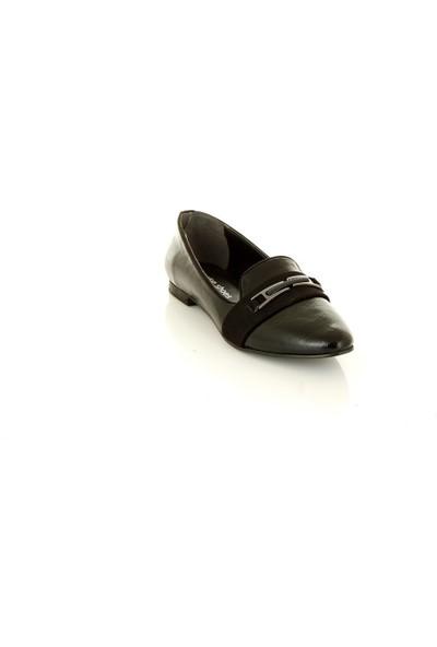 Marine Shoes T522 Siyah Kadın Babet