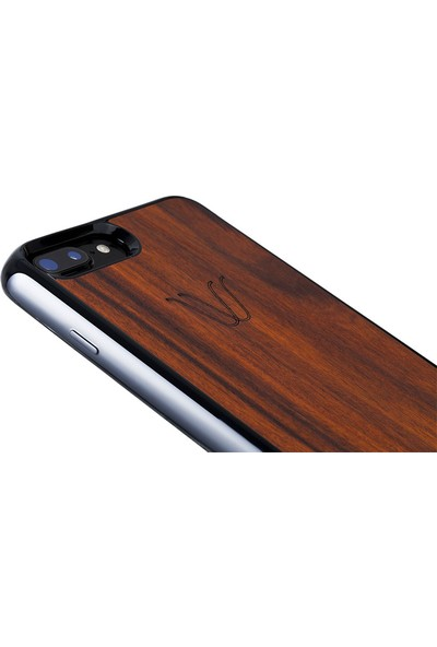 Woodie Milano Rosewood Apple iPhone 7 Kablosuz Şarj Alıcı Kılıf