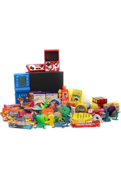 Nostaljik Lezzetler Özel Gıda ve Oyuncak Kutusu , Mavi Tetris ve Atarili