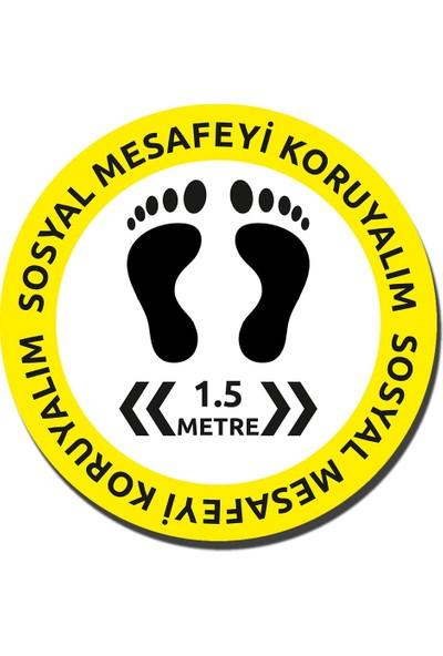 Vr Sosyal Mesafe 30X30 Sticker