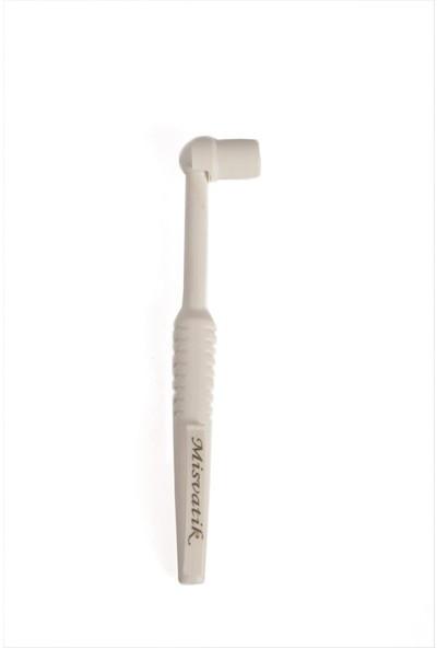 Misvak Diş Fırçası ve Dörtlü Yedek Ucu - Beyaz