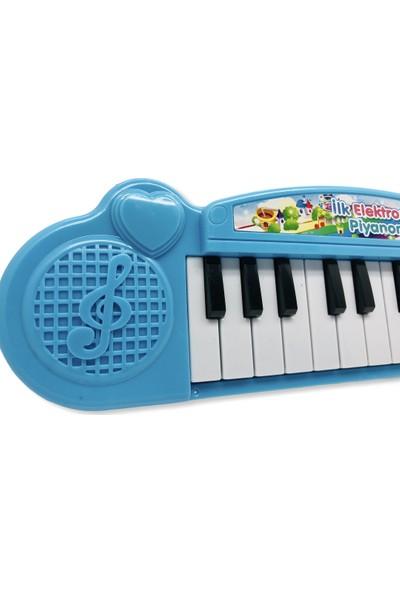 Medska Piyano 22 Tuşlu Sesli Ilk Elektronik Piyanom Mavi