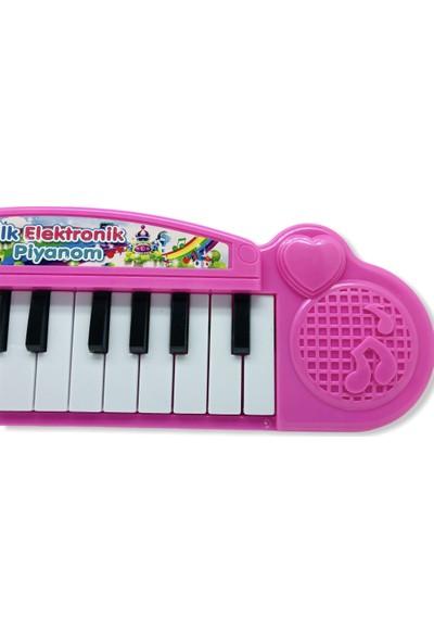 Medska Piyano 22 Tuşlu Sesli Ilk Elektronik Piyanom Pembe