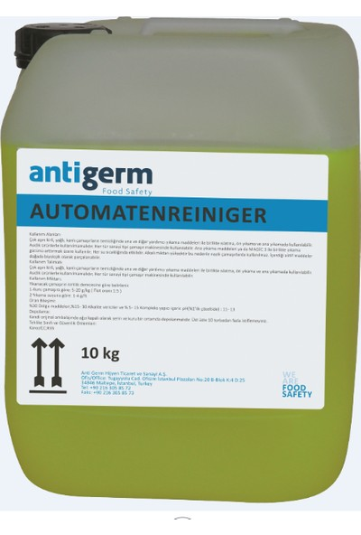 Kersia Anti Germ Otomat Temizleyici Madde 10 kg