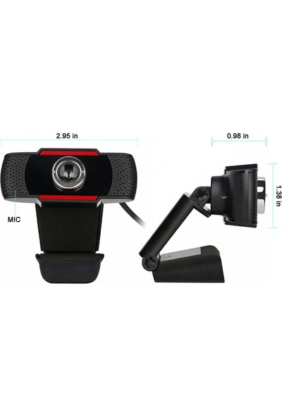 Valx VC-480 480P Mikrofonlu Webcam