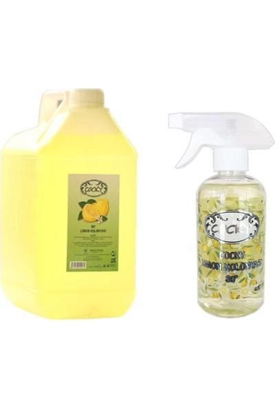 Cocky Limon Çiçeği Kolonyası 80 Derece 5000 ml + 400 ml