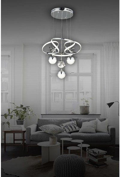 Luna Lighting Powerled 4lü Sarkıt Ledli Modern Avize