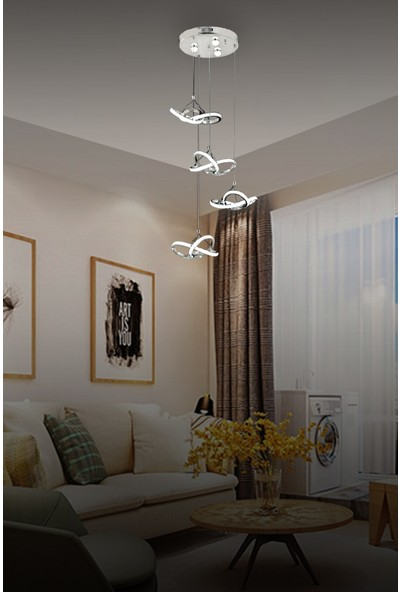 Luna Lighting Luxury 4lü Sarkıt LED Spor Modern Avize