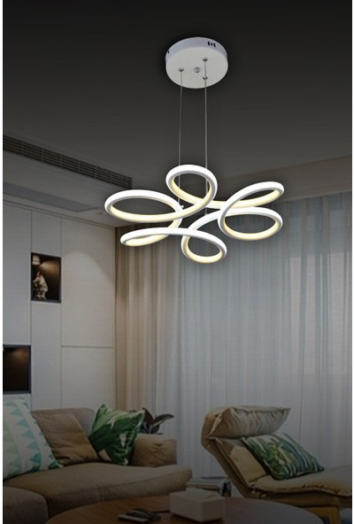Luna Lighting LED Avize Ledli Modern Luxury Powerled Sarkıt Avize