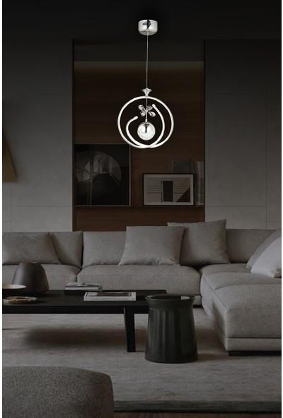Luna Lighting Modern Luxury Sarkıt LED Avize Krom Powerled