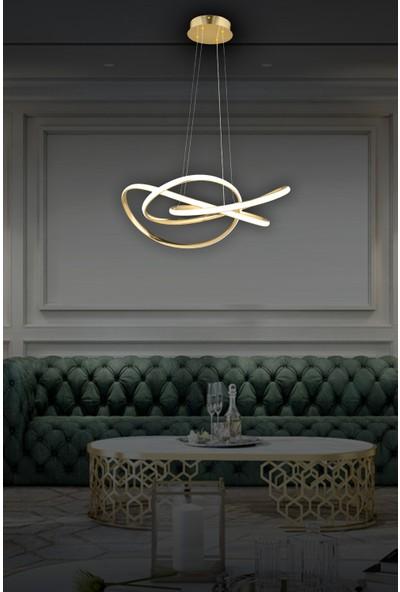 Luna Lighting Modern Luxury Sarkıt LED Avize Gold Sarı