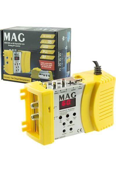 Mag MG-16535 HDMI Av Girişli Full Band Rf Modülatör