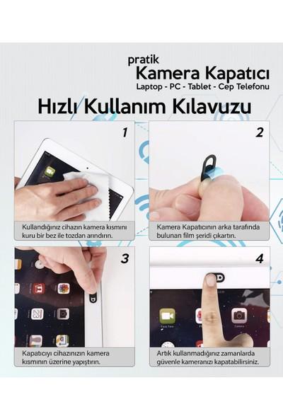 ThreeStep Pratik Web Kamera Kapatıcı - Ekstra Ince 0.7mm - Webcam Cover Gizliliğiniz Için Güvenli Kullanım