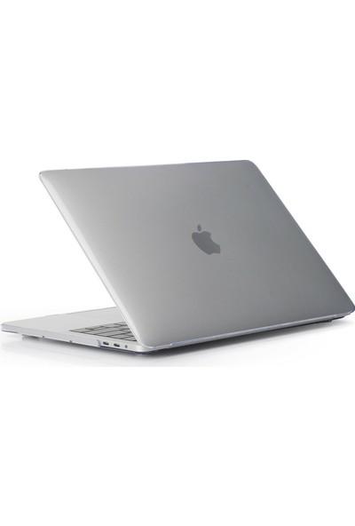 Arabulalaca Apple Macbook Air 13.3' 2020 (M1) A2337 Koruma Kılıfı A2337 Mat Doku Case Parlak Şeffaf