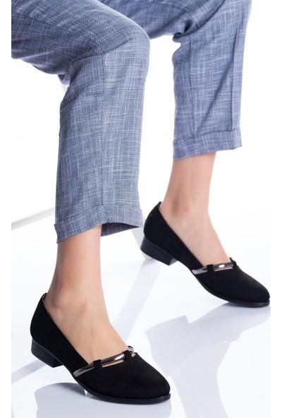 Ayakkabı Frekansı Wiste Babet Ayakkabı Siyah Süet