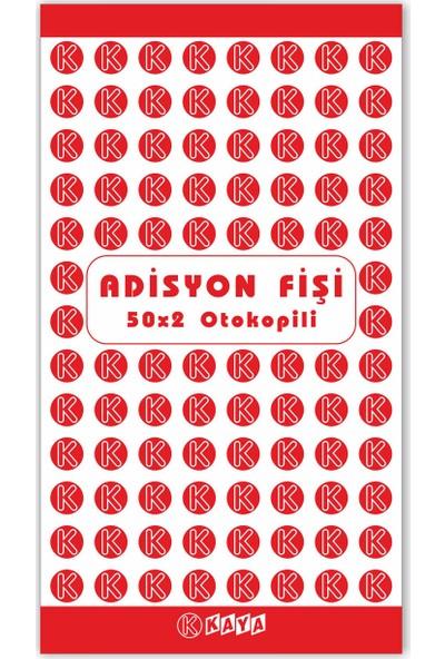 Kaya Adisyon Cep Boy Sipariş Fişi Seri Nolu Otokopili 8 x 14.5 cm 25'li