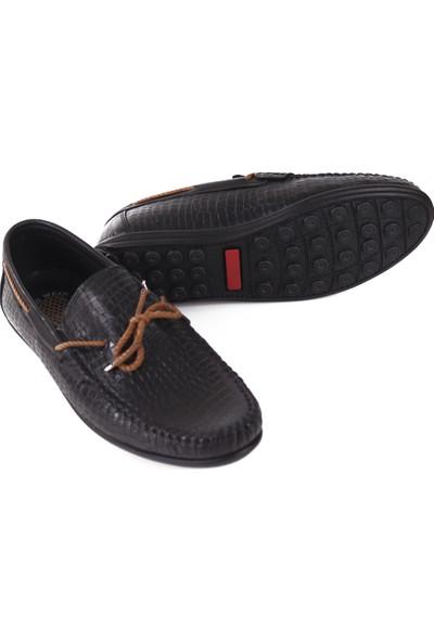Cho West Hobby Siyah Deri Erkek Günlük Ayakkabı 5003