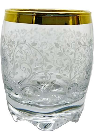 Lav Gold Desenli Cam Zemzem Bardağı