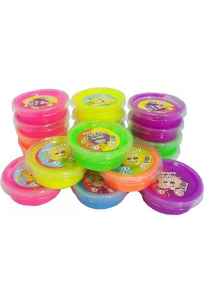 Erbek Plastik Slime Pofuduk Kutu Polymer Slime Eğitici Oyun Seti 9 Adet 50 gr