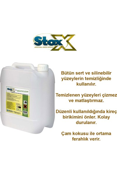 Stox Multıclean Cok Amaclı Genel Temızlık 5 Kg.