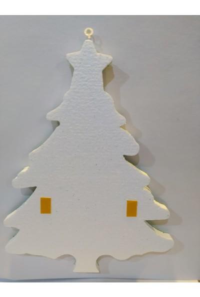 Mavi Boncuk Yılbaşı Strafor Çam Ağacı