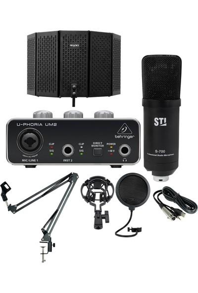 Sti S700 Studyo Mikrofon + Behringer Um2 Ses Kartı Full Kayıt Seti