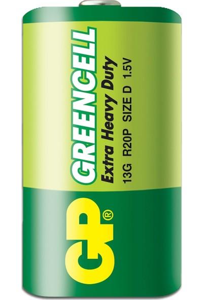 Gp 13G R20 Greencell D (Büyük) Boy Çinko Karbon Pil