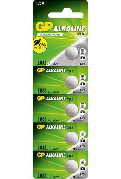 Gp GP186 LR43 Alkalin Saat-Cihaz Pili 1 Det Fiyatıdır