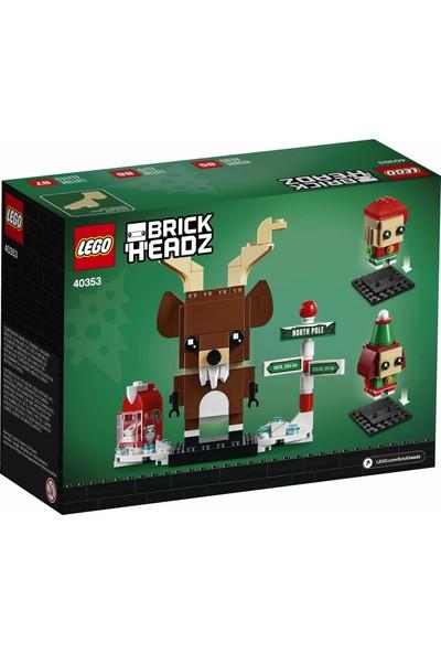 LEGO Brickheadz Reindeer 40353 Elf ve Elfie Yapı Oyuncağı