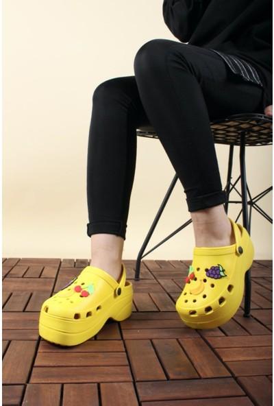 Oksit Toya Desenli Hafif Kadın Sandalet