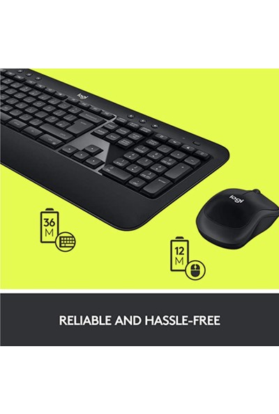 Logitech Advanced Combo Klavye & Mouse Seti-Siyah