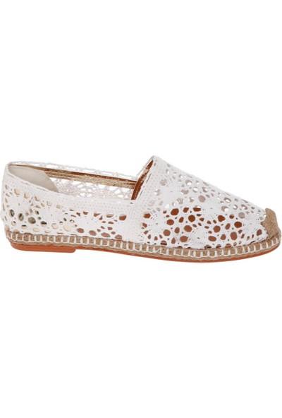 Shoetek 150 Kadın Babet Beyaz Örme