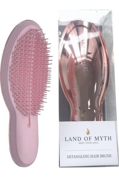 Land Of Myth - LOM1201 Detangling Hair Brush, Saç Açma Tarağı (Rose Gold)