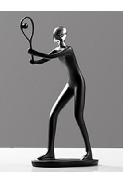 Vox - Minimalist Biblo Heykel Siyah Tenis 17X27 cm