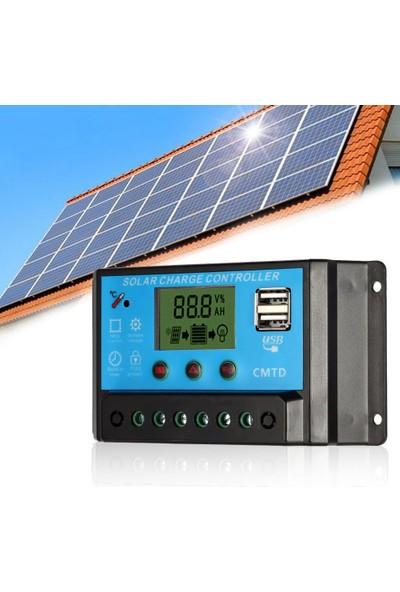 Anself Kendini 10A 12.6V LCD Solar Şarj Kontrol Cihazı Pwm