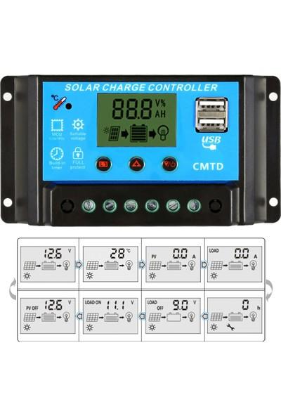 Anself Kendini 20A 12.6V LCD Solar Şarj Kontrol Cihazı Pwm