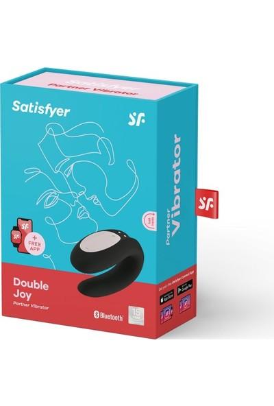 Satisfyer Double Joy Siyah Telefon Kontrol Çiftlere Özel +Mini G Spot Vibratör
