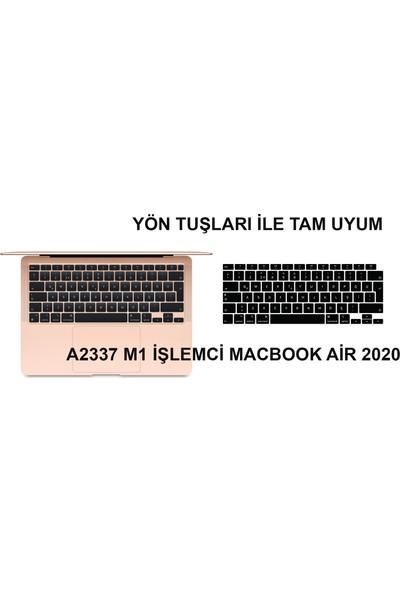 Kızılkaya Apple Macbook Air 13 Inç 2020 A2337 (M1) Işlemcili Türkçe Q Silikon Klavye Koruyucu Siyah