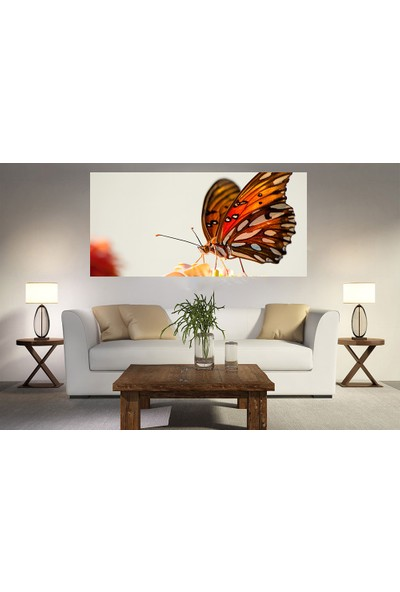Syronix Kahverengi Kelebek Kanvas Tablo