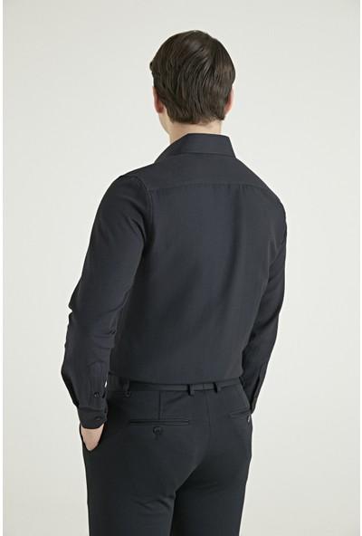 D's Damat Slim Fit Siyah Gömlek