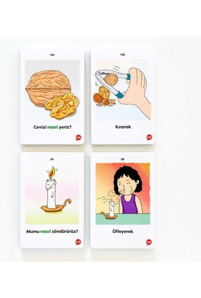 5N1K Konuşma Becerisine Destek ''nasıl '' Kart Oyunu