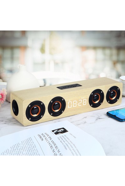 Buyfun W8C Modern Basit Taşınabilir Saat Hoparlör Yüksek Çözünürlüklü (Yurt Dışından)