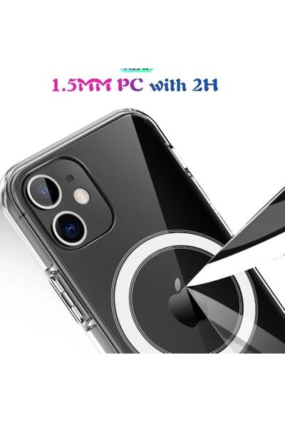 Teleplus Apple iPhone 12 Mini Kılıf Coss Wireless Destekli Hibrit Silikon + Wireless Şarj Aleti Şeffaf
