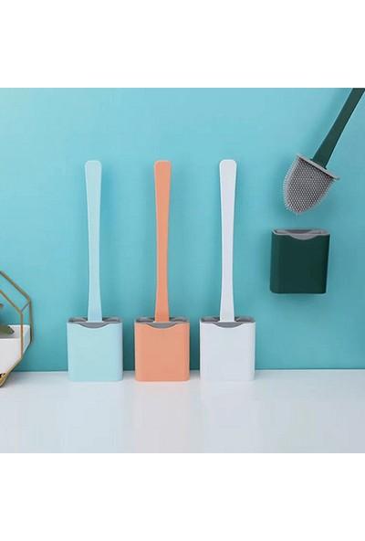 Selenica Silikon Banyo Tuvalet Klozet Fırçası ve Tutucu Set