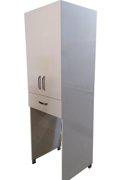 Ahşap Mobilya Çamaşır Makinası Dolabı